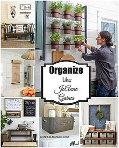 """Hi everyone, today on COM I am talking about how to """"Organize Your Home Like JoAnna Gaines""""… or rather sharing some images to inspire you all. Now that Christmas is passed, and some of you have put it"""