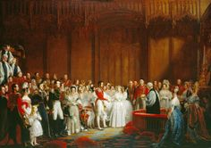 Sir George Hayter's painting of the marriage of Queen Victoria and Prince Albert in the Chapel Royal, St James's Palace, on 10 February This picture was completed in Supplied by Royal Collection Trust © HM Queen Elizabeth II 2012 RCIN 407165 Princesa Anne, Princesa Margaret, The Young Victoria, Queen Victoria Prince Albert, Victoria And Albert, Victoria British, Royal Brides, Royal Weddings, Grace Kelly