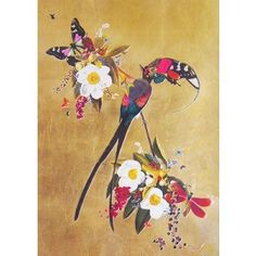 Find Langi Tagl Audubon Gold Leaf by Kristjana S Williams online. Choose from thousands of contemporary artworks from exciting artists expertly-vetted by Rise Art's curators. Buy art online with confidence with free art advisory. Icelandic Artists, S Williams, Rise Art, Collage Artwork, Animal Magic, Contemporary Artwork, Butterfly Art, Leaf Art, Colorful Wallpaper