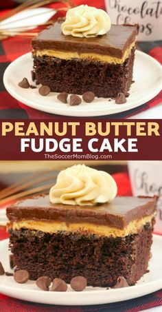 Chocolate Peanut Butter Texas Sheet Cake: fluffy chocolate sheet cake topped with rich peanut butter cream and chocolate icing — perfection in every bite! Brownie Desserts, Oreo Dessert, Mini Desserts, Chocolate Cookie Recipes, Chocolate Icing, Fudge Recipes, Easy Cake Recipes, Nutella Recipes, Strawberry Desserts