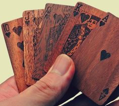 Wooden deck of cards. Probably not the best for competitive people yet still mouth watering...