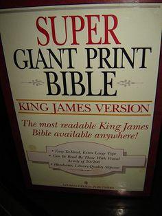 Super Giant Print Bible: King James Version (2 Volumes)
