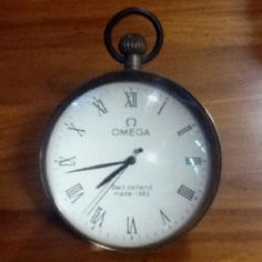 My new find. A original OMEGA glass ball clock made in Switzerland in 1882.