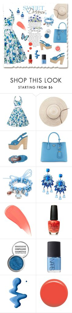 """""""Sweet dreams"""" by aura-green ❤ liked on Polyvore featuring L'Autre Chose, Prada, Accessory PLAYS, Fragments, Burberry, Obsessive Compulsive Cosmetics, NARS Cosmetics, Topshop, JINsoon and Clinique"""
