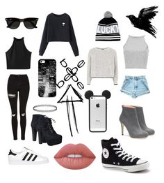 """""""Wich:"""" by princessemmaxoxo on Polyvore featuring Chicnova Fashion, Casetify, River Island, Topshop, adidas Originals, Converse, Speed Limit 98, Ray-Ban, Lime Crime and Bebe"""