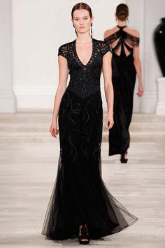 Ralph Lauren's black dress