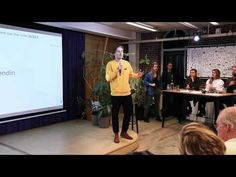 ASS | Welcome NL co-founder Julius Weise pitch at Impact Hub Amsterdam | Welcome NL - YouTube