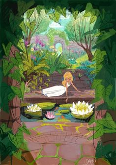 Forja de Vida — theartofanimation: Daemion Elias George-Cox - ... girl by the pond.