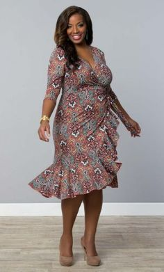 Flirty Flounce Wrap Dress