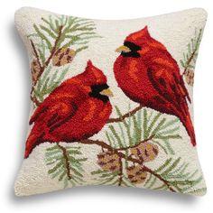 Found it at Wayfair - Cardinals Wool Throw Pillow
