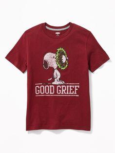 Old Navy Peanuts® Snoopy Good Grief Christmas Tee for Boys 4feb050ac