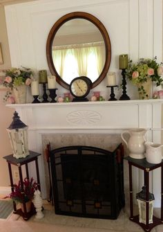 Shabby chic summer mantle