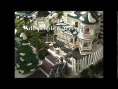 Sandi's How to Make a Christmas Village Display