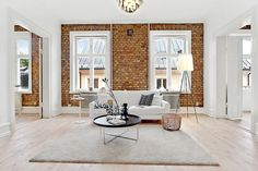 brick livingroom