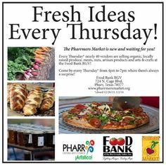 Fresh Ideas Every Thursday!  At the Pharrmers Market...