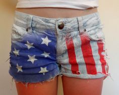 Shorts that I painted last summer.