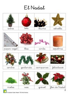 Nadal a l'Aa Learning Resources, Learning Spanish, Kids Learning, Christmas Art, Christmas Wreaths, Catalan Language, Valencia, Holiday Decor, Learn Spanish