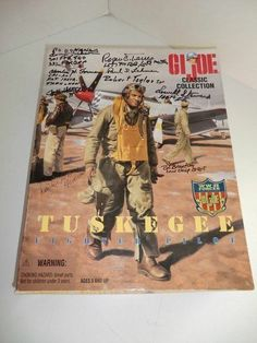 GI JOE Tuskegee Fighter Pilot NIB signed by 10 Tuskegee men Red Tails