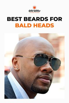 If you're unsure how to wear a beard with a shaved head, this post will help guide you to find a style that will suit your style! Read on to learn 6 great #beardstyles Black Men Beards, Long Beards, Great Beards, Awesome Beards, Beard Growth, Beard Care, Beard Styles For Men, Hair And Beard Styles, Bald Head With Beard