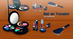Makeup clutter at pqSims4 via Sims 4 Updates