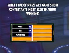 Family Feud answers excited | ... Type Of Prize Are Game Show Contestants Most Excited About Winning