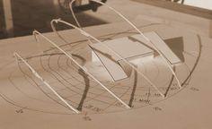 Maqueta con carta solar estereografica Madrid