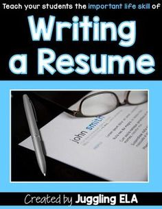 The common core standards want us to get our students prepared for life outside of high school. I think that one of the best things I do with my high school seniors is teach them how to write a resume. This is a skill that I didn't learn until I needed one when I was graduating college.
