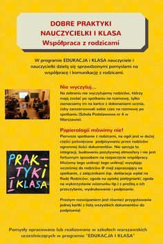 Podziel się dobrą praktyką! | Centrum Edukacji Obywatelskiej Languages Online, Behavior, Preschool, Teacher, How To Plan, Education, Learning, Schools, Playroom