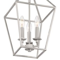 """Aviary 9 1/2"""" Wide Brushed Nickel 3-Light Foyer Mini Pendant - #78C92 