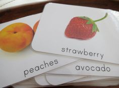 Fruit Montessori Toddler Language Cards Fruit by freespiritkids