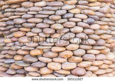 Gravel on wall can be used as background - stock photo