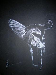 Tableau sur papier noir au pastel sec Scène de vie : 21 oeuvres ...