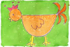 This is a great project for beginners, say like kindergarten or so. Simple shapes to draw, yet easy to personalize with a crown or extra fancy feathers. 1. Students trace a small … Read More