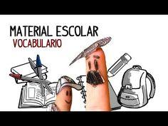 Materiais escolar, vocabulário em espanhol