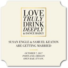 Our publisher Ariel received a seriously chuckle-worthy save-the-date that made us salivate for more funny wedding invitations and save-the-dates. I rounded up a whole bunch of funny, irreverent, a… #weddinginvitation