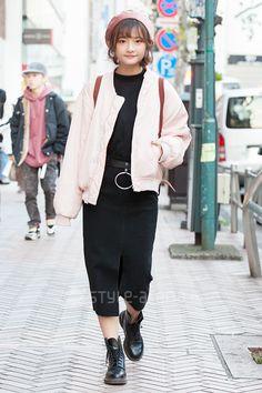 Nina | Luvluv, me WEGO Dr.Martens LONGCHAMP  | 3rd week  Dec. 2016 | Shibuya | Tokyo Street Style | TOKYO STREET FASHION NEWS | style-arena.jp