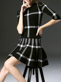 Fashion Paneled Mini dress