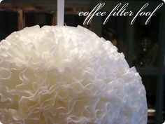 easy & sweet decoration for a baby shower or nursery - made of coffee filters