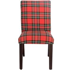 Darby Home Co Sorrels Side Chair Color: Ancient Stewart Red
