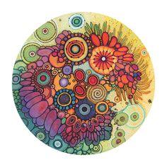PRINT Treasure DoodlePainting Ink Paintings, Original Paintings, Alcohol Ink Painting, Watercolor And Ink, Watercolours, Doodle Art, Mixed Media Art, Giclee Print, Digital Prints