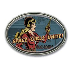 Retro-A-Go-Go Buck Rogers Space Girl Unite Belt Buckle :: Profile :: Dark Horse Comics