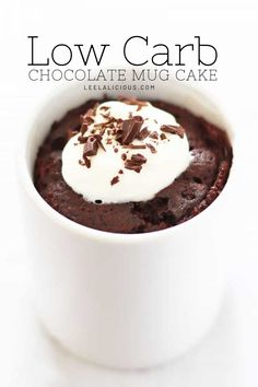 This Keto Chocolate Mug Cake makes an incredible treat whenever your sweet tooth needs a fix. It is made from coconut flour, gluten free and paleo. And best of all, you can stir up this low carb chocolate mug cake and enjoy it in under 5 minutes! How is that for dessert in a flash?! Paleo Mug Cake, Keto Chocolate Mug Cake, Keto Cake, Chocolate Mugs, Low Carb Chocolate, Mint Chocolate, Mug Recipes, Snack Recipes, Dessert Recipes