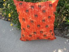 Spider print Halloween Pillow by 12dozen on Etsy
