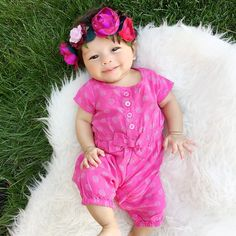06.08.15 || ten weeks || Baby floral crownin
