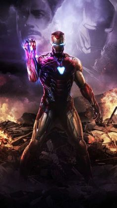 I am Iron Man infinity Stone Snap iPhone Wallpaper