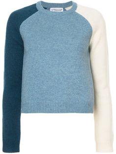 Colorblocked Sleeve Sweater