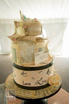 Love Letters Wedding Cake. Photo by Daniel McGarrity #weddingcake @sugarbakerscakes