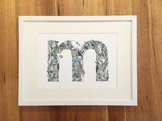 m in the aussie bush framed and ready for its new home  . #m #letterm #illustratedletter #finelinerart #framed #whiteframe #monochromeart #finelinerdrawing #handdrawn #typelove #lettered #lettering #handlettered #handmadegift #perthartist #initial #kidsart #nurserydecor #perthdecor #kidsroomstyle #australianspecies #animaldrawing #aussiebush #nativeflora