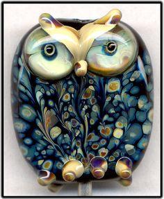 Black Raku Owl XLII