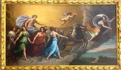 """Allegoria """"Aurora"""" Olio su tela XVIII secolo"""